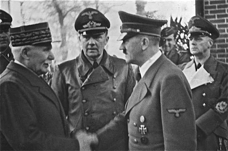 Philippe Pétain And Adolf Hitler