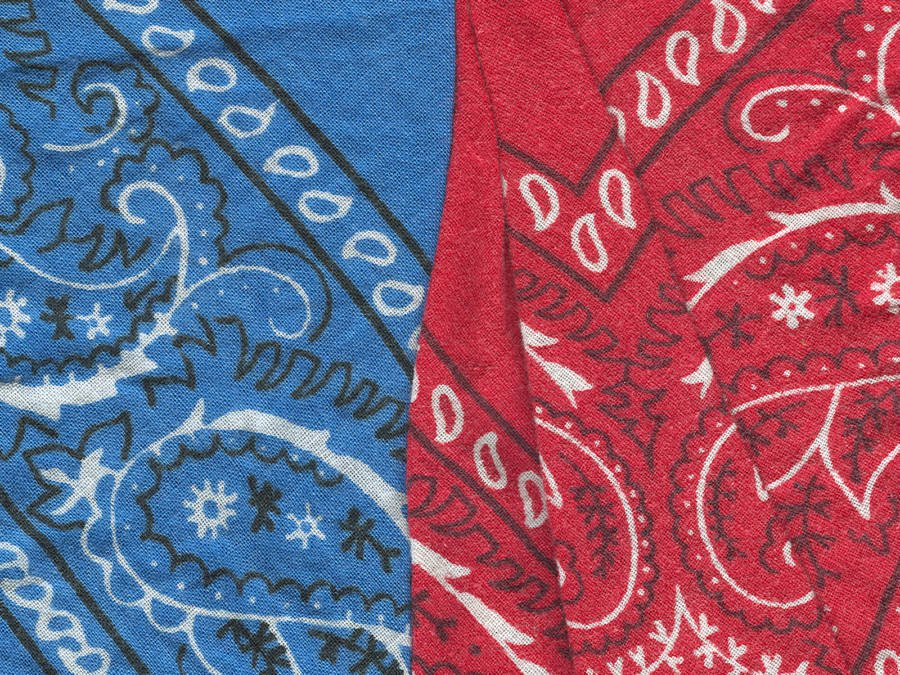 Red And Blue Bandanas