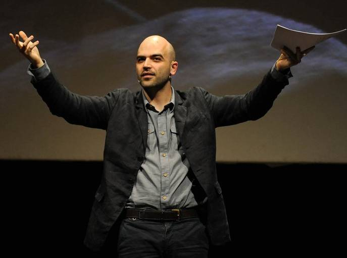 Roberto Saviano Giving A Talk