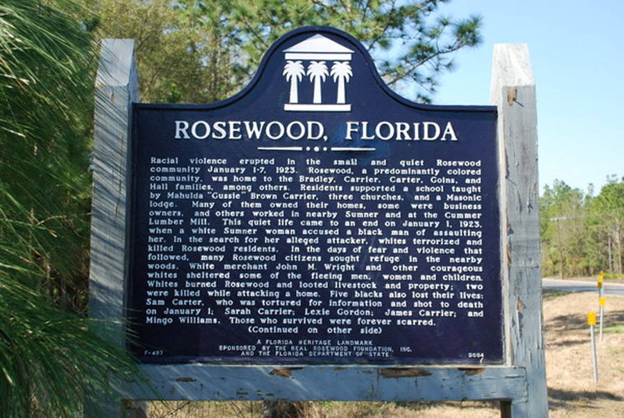 Rosewood Florida Heritage Sign