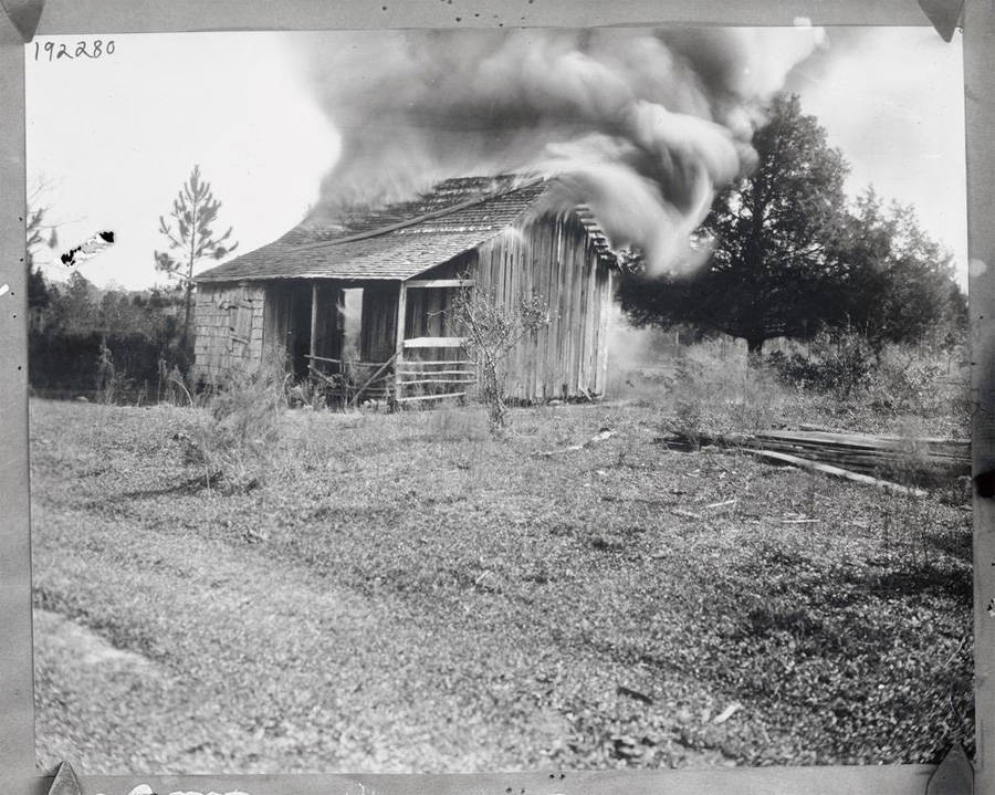 A House Burns In Rosewood Florida