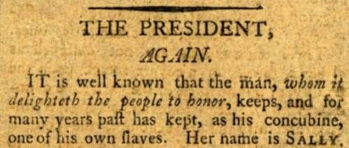 Sally Hemings In The Newspaper