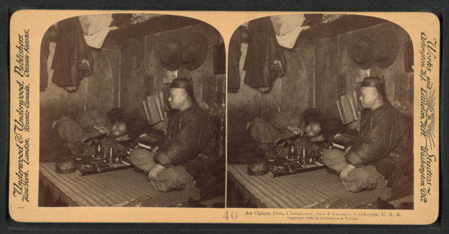 San Francisco Opium Den Of Late 19th Century