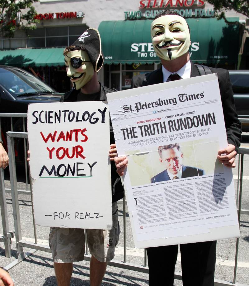 Scientology Anonymous Masks La June 22 2009