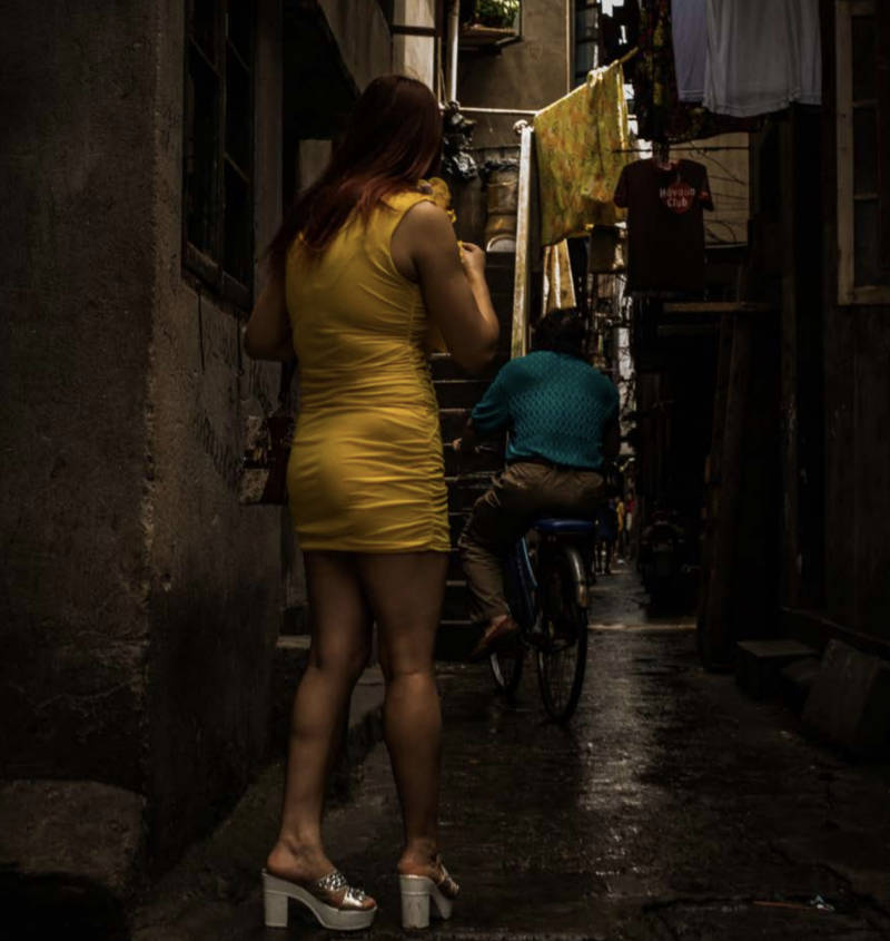 Sex Worker In Back Alley