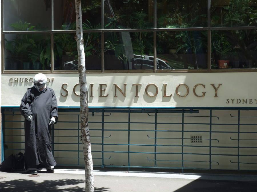 Sydney Scientology Center Xenu Protestor