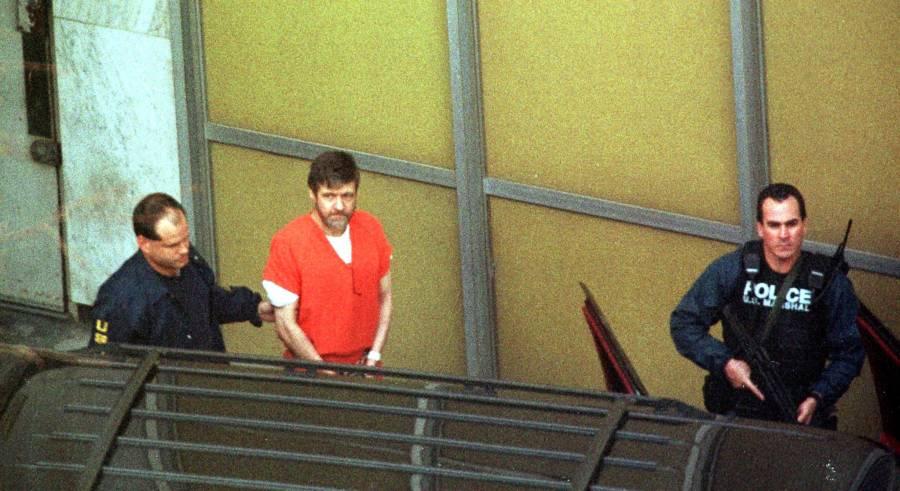 Ted Kaczynski In Police Custody