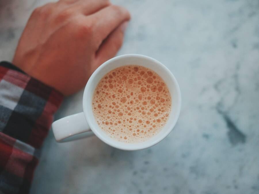 Bolhas de café de tripofobia