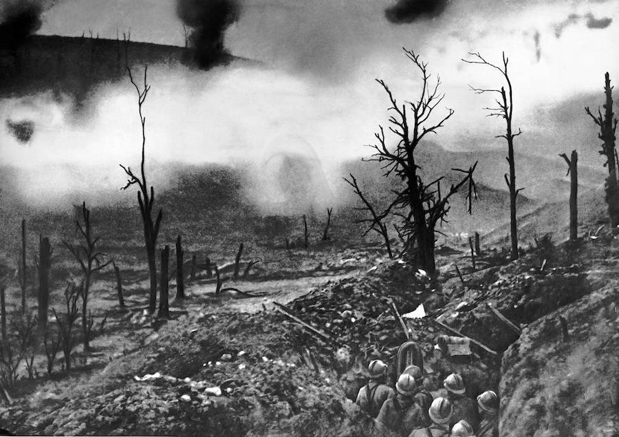 Verdun Battlefield In Flames