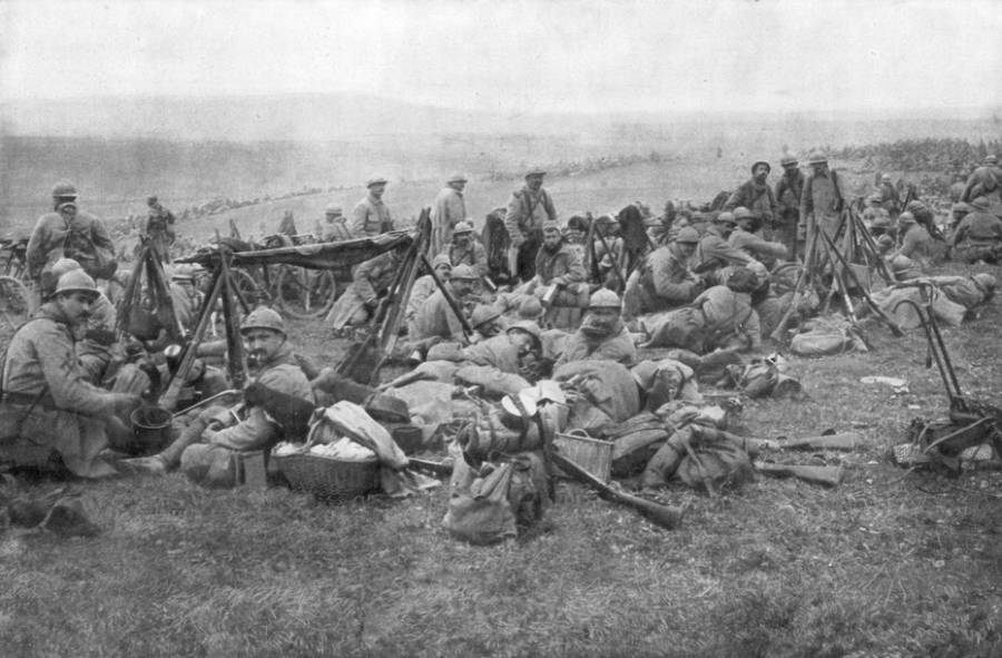Soldiers Relaxing At The Battle Of Verdun