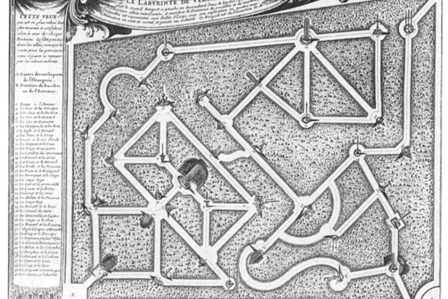 Diagram Of The Versailles Maze