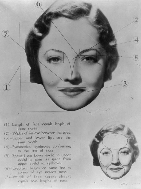 Map Of Actress Sylvia Sidney's Proportions
