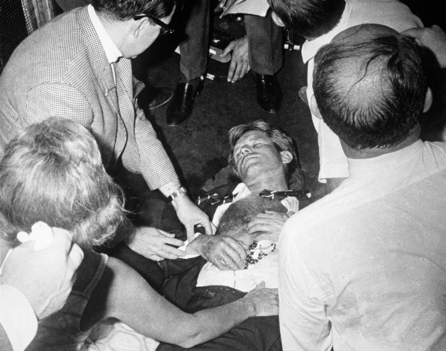 Bobby Kennedy Lies On Floor