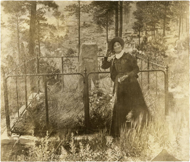 Calamity Jane at Wild Bill's Grave