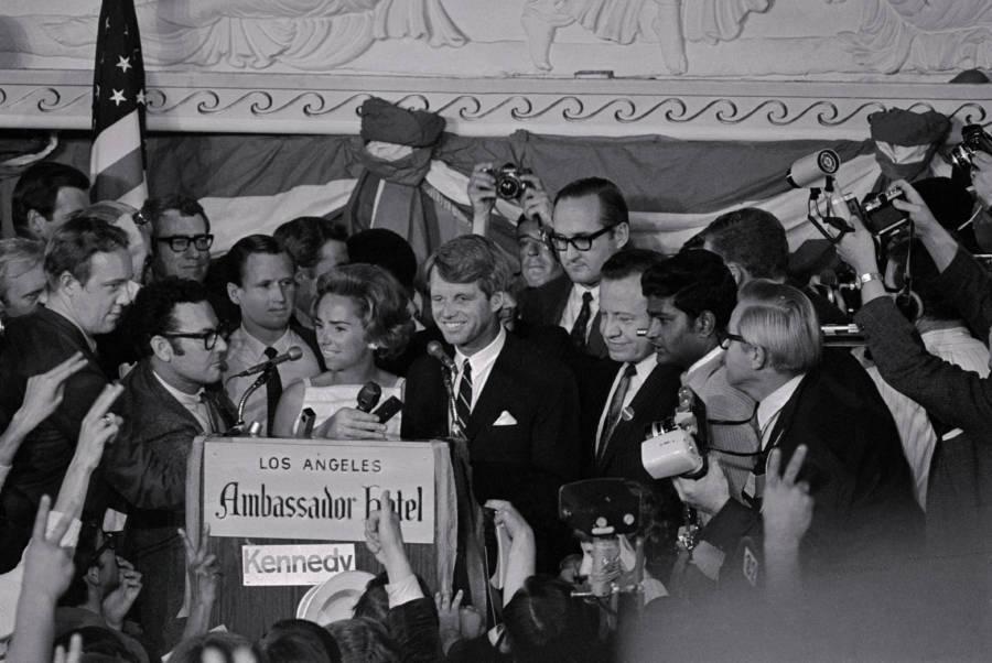 Robert Kennedy At The Ambassador Hotel