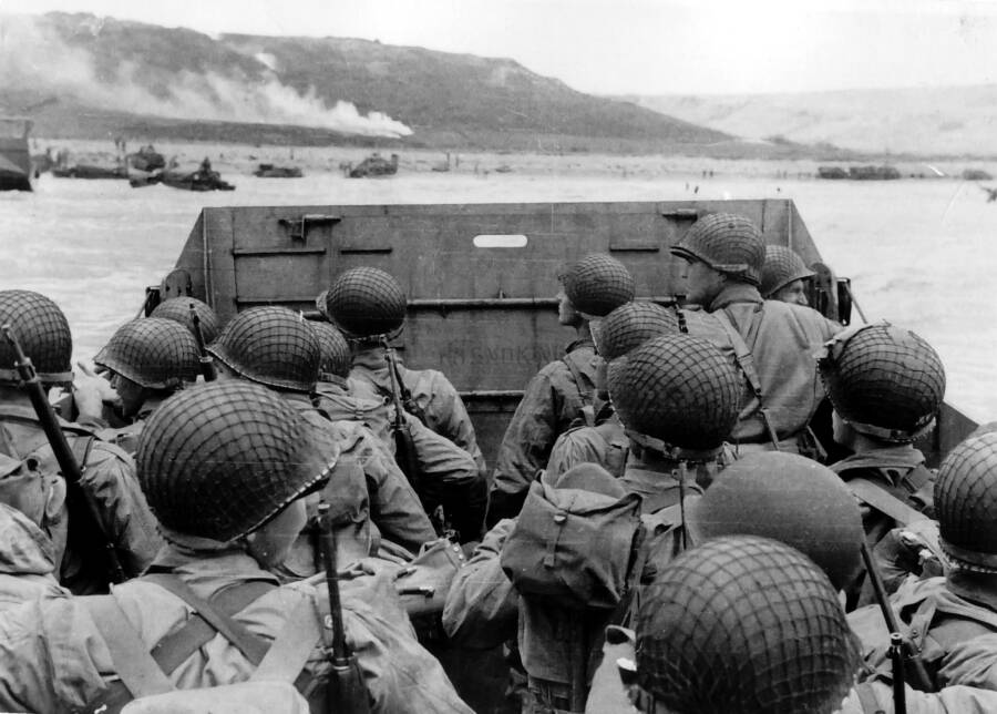 American Troops Approach Omaha Beach On D-Day