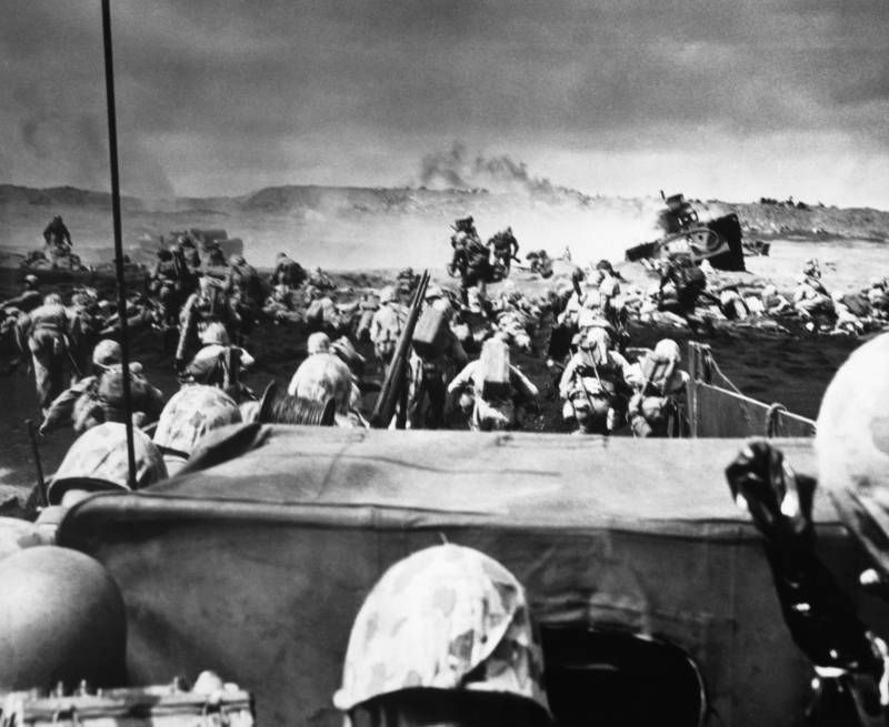 Marines Land For Battle Of Iwo Jima