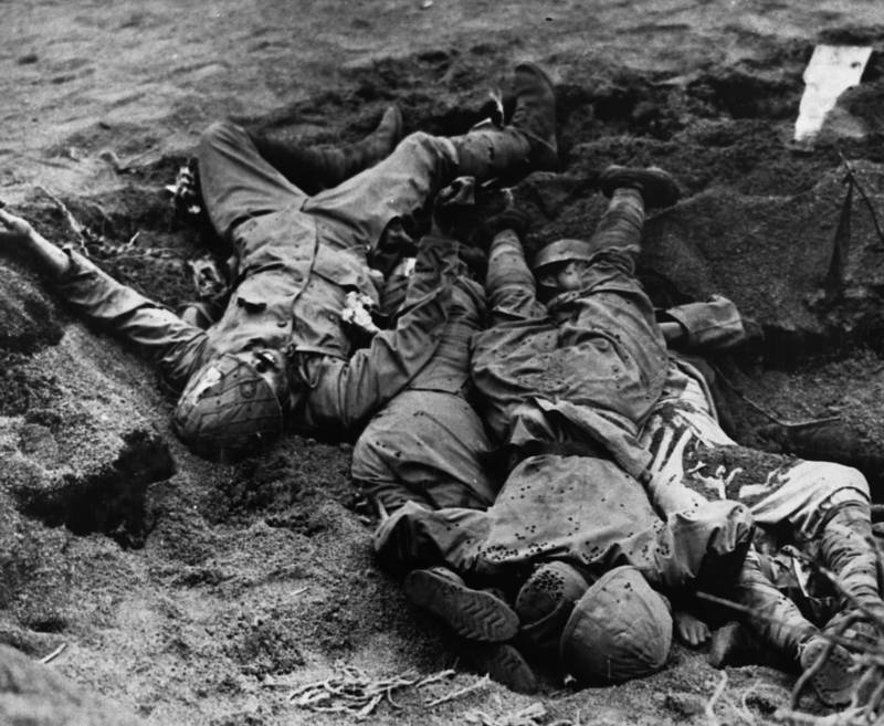 Dead Japanese Soldiers At Iwo Jima