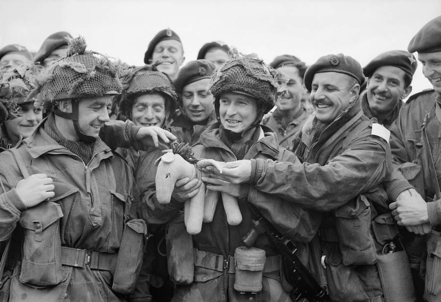 British Troops Hold A Toy