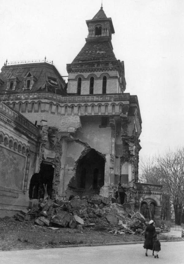 Building Destroyed After Siege Of Leningrad