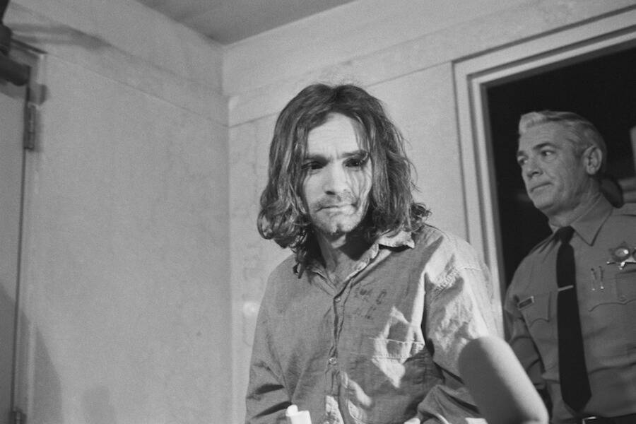 Charles Manson With Police
