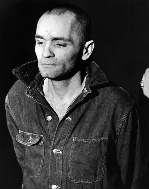 Charles Manson With Shaved Head