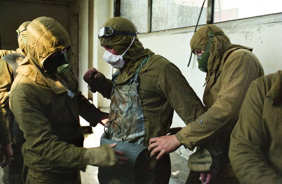 Chernobyl Workers Suit Up