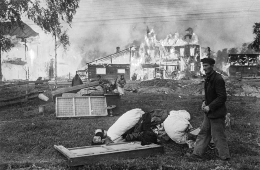 Civilian House On Fire