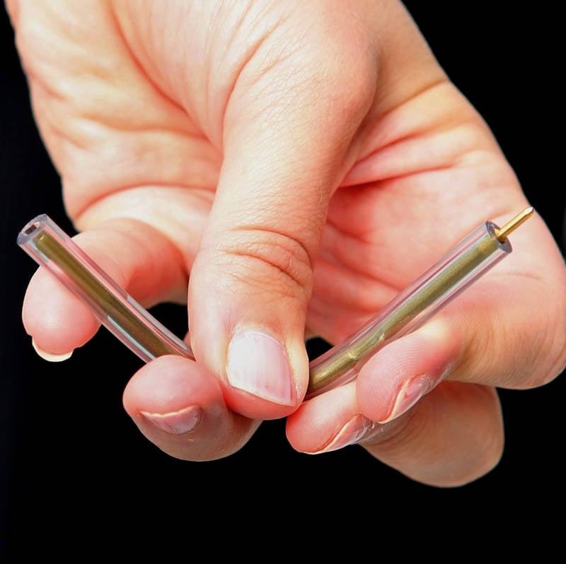 Closeup Holding Pen That Killed Craigslist Killer