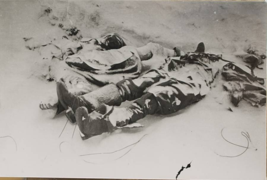 Dead Bodies Buried In Snow In Stalingrad