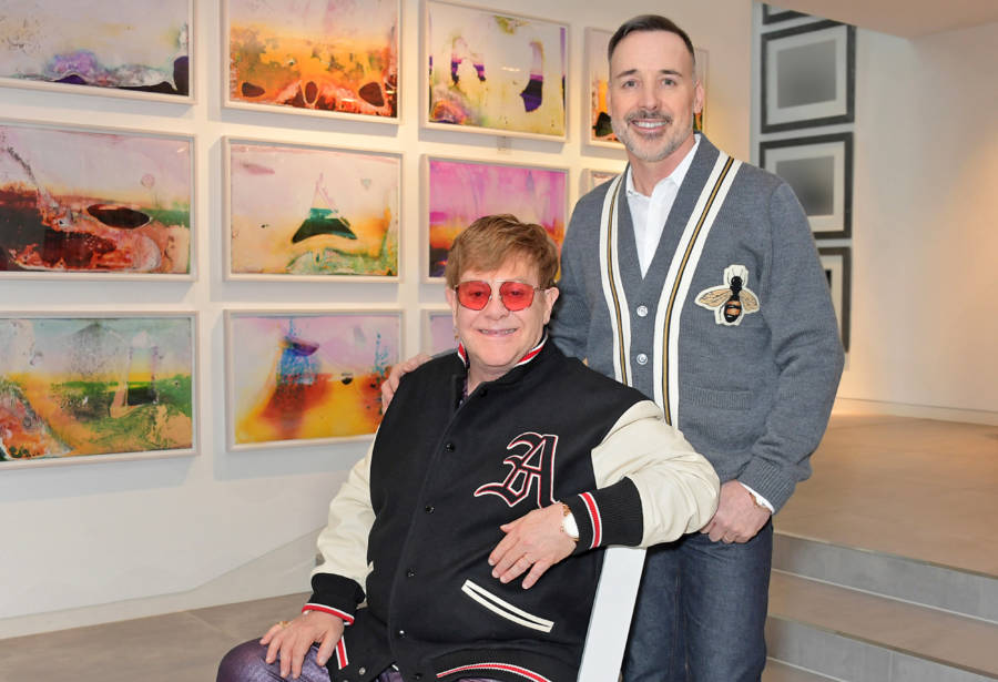 Picture Of Elton John With Partner David Furnish