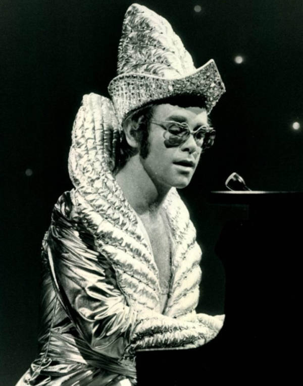 Picture Of Elton John Wearing Glam Rock Clothes
