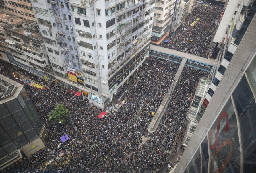 Hong Kong Protests From Above