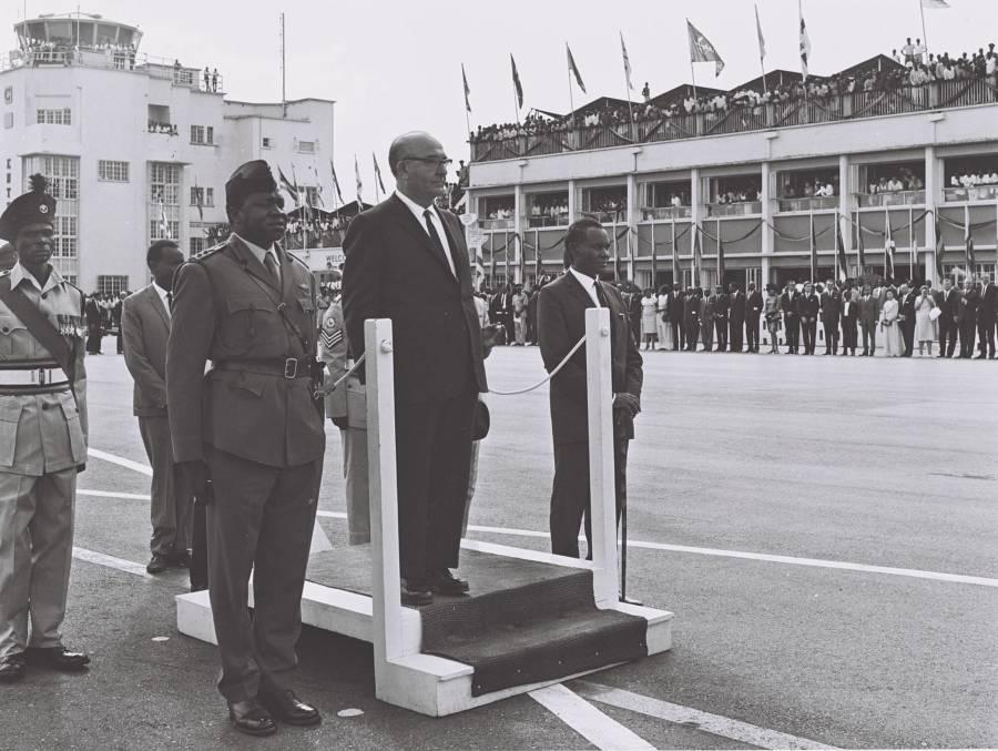 Idi Amin And Levi Eshkol