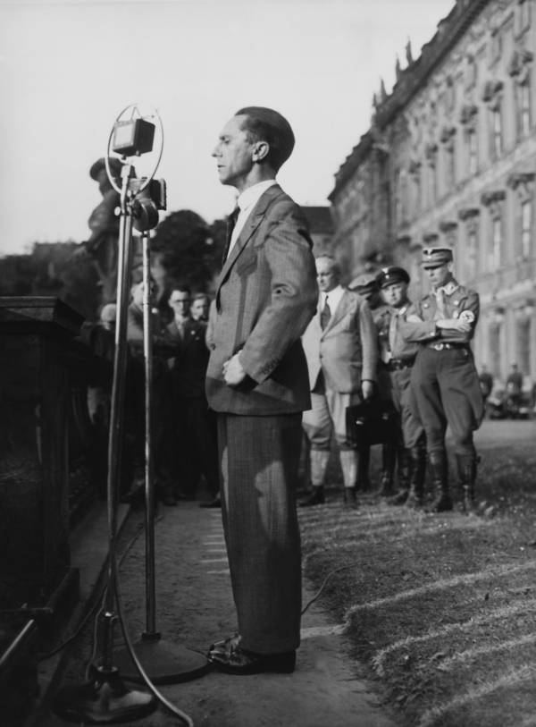 Joseph Goebbels Giving A Speech