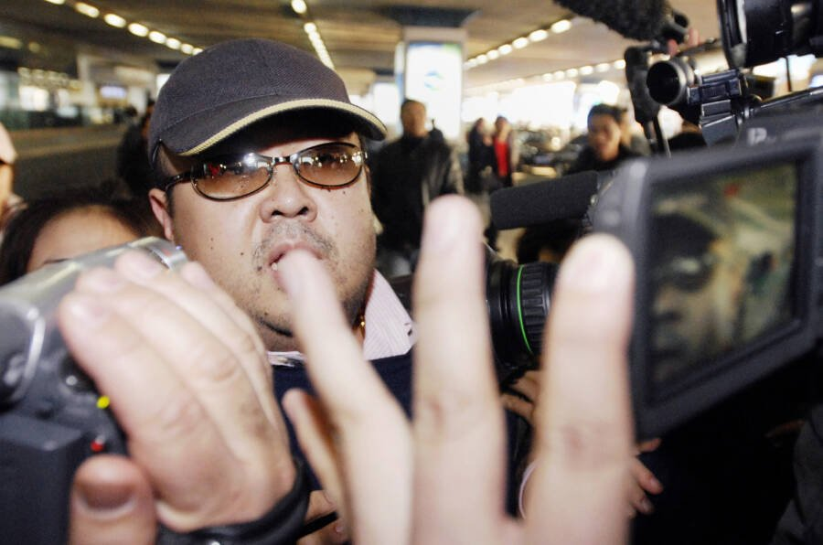 Kim Jong-nam With Reporters