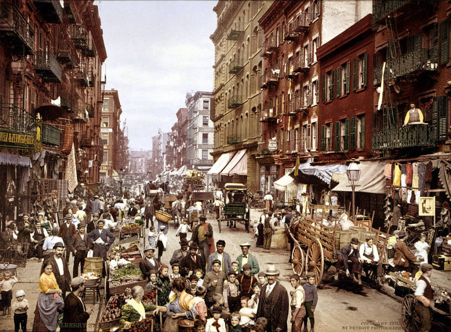 Colorized Photo Of New York Lower East Side In 1900s