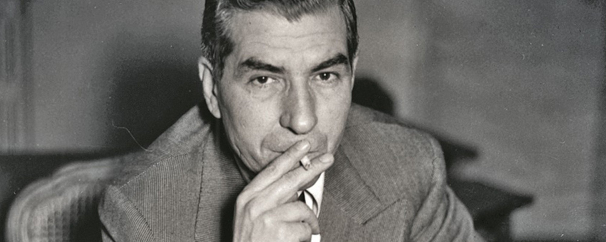 Lucky Luciano Smoking