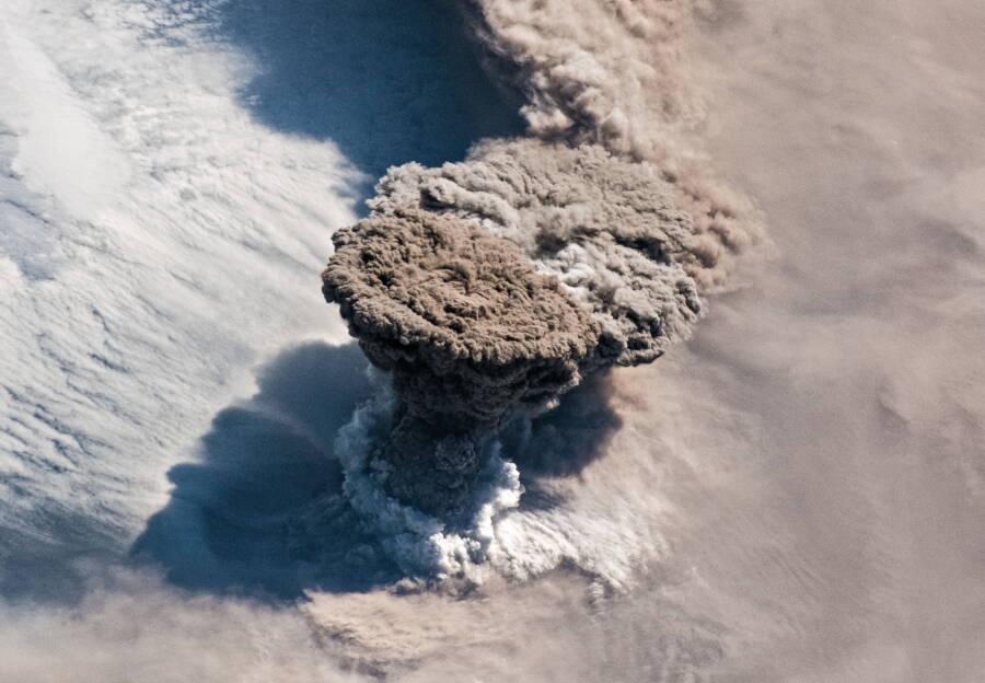 Raikoke Erupting