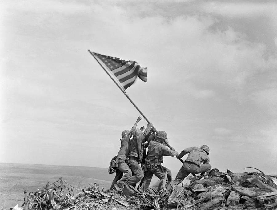 Raising The American Flag On Iwo Jima