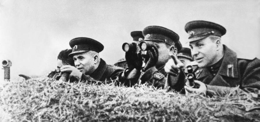 Red Army Officers At The Battle Of Kursk