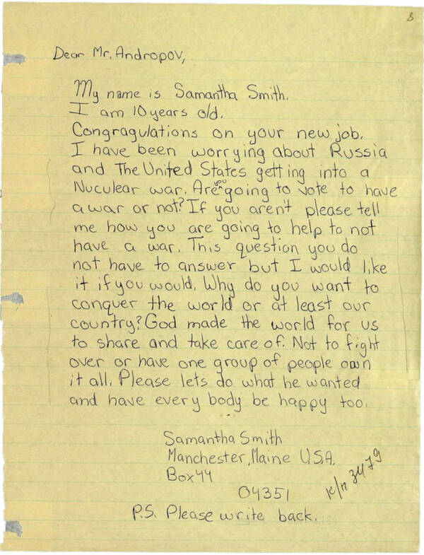 Samantha Smith Letter