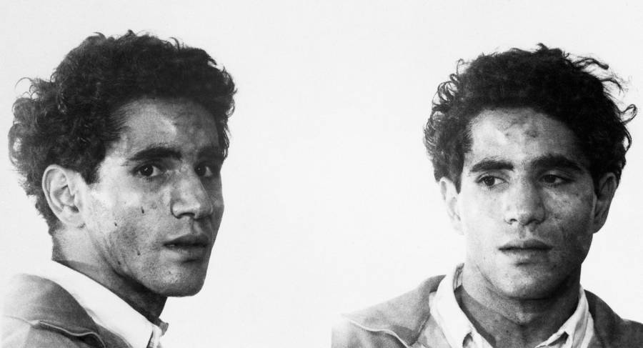 Sirhan Double Mugshot In Black And White