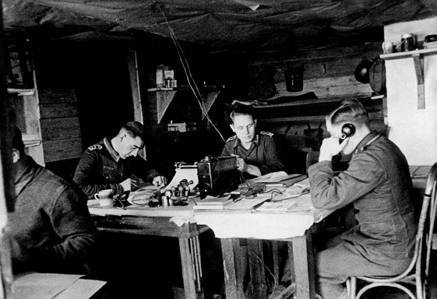 Soldiers In A Bunker At Stalingrad