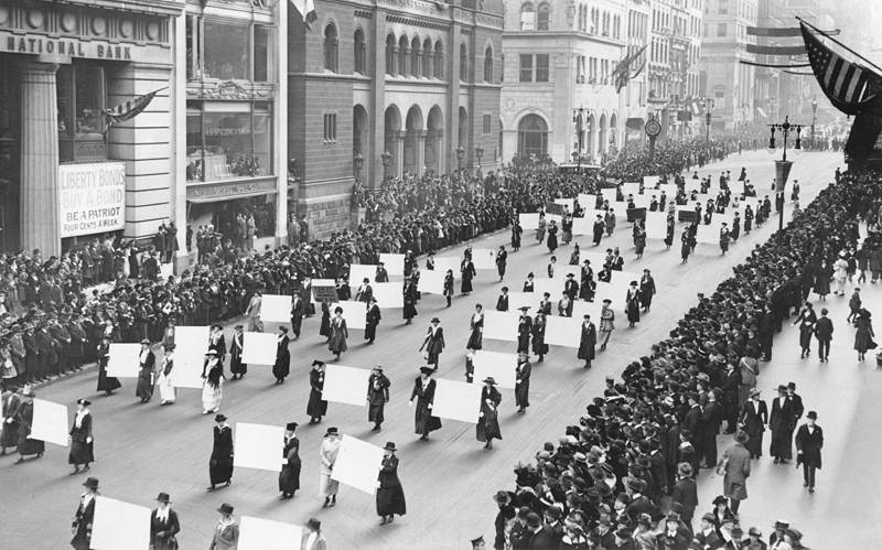 Parade For Women's Suffrage Movement