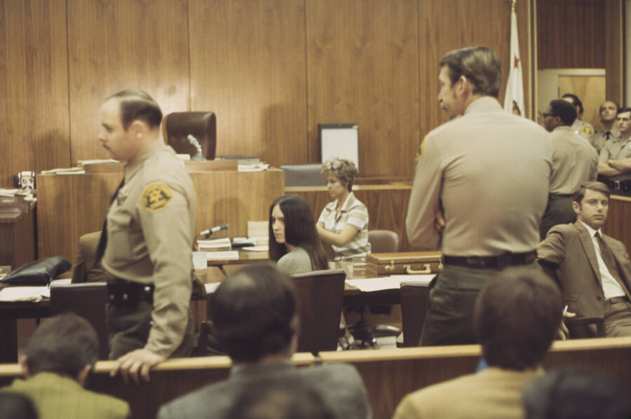 Susan Atkins In Court