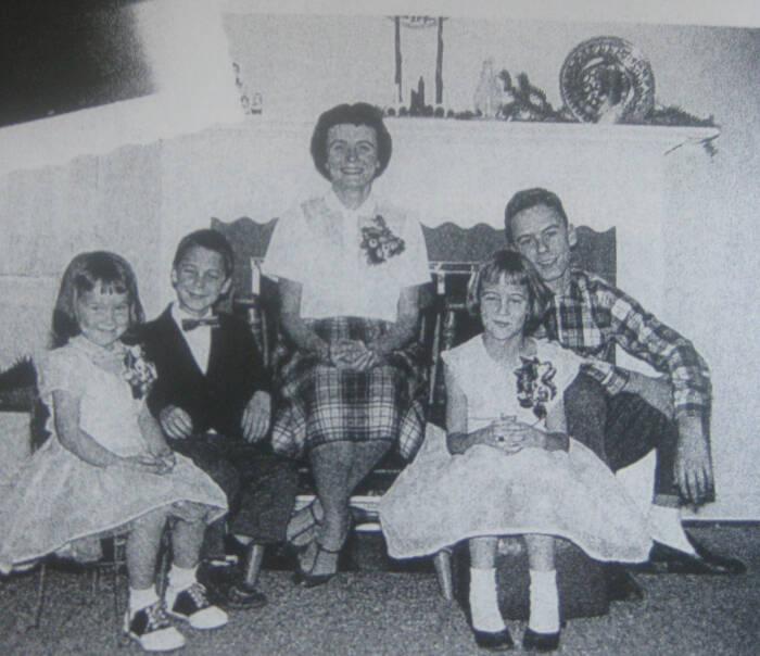 Ted Bundy's Mom Eleanor Louise Cowell With Children