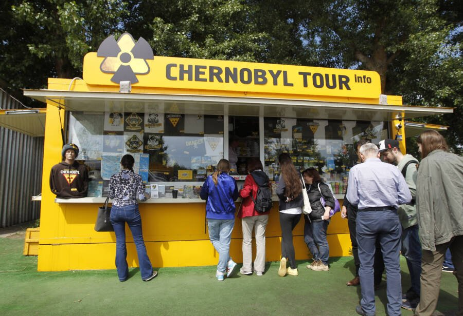 Tourist Booth Outside Chernobyl
