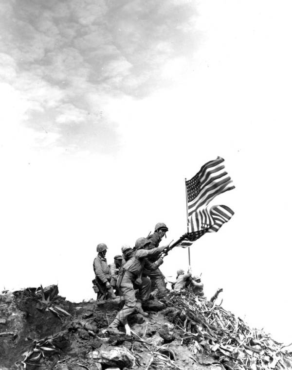US Flag On Iwo Jima