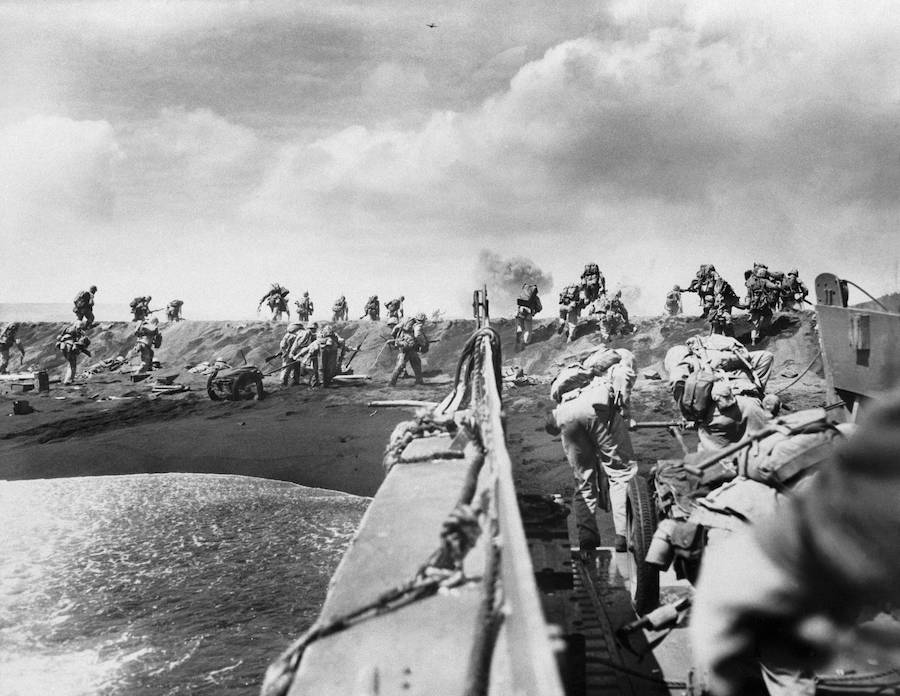 American Troops Landing On Iwo Jima